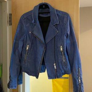 Super cute light blue leather jacket